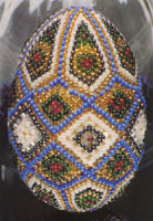 бисероплетение схемы пасхальные яйца
